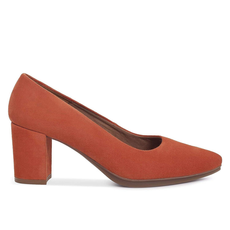 TALLA 37 EU. Zapatos Salón. Zapatos Piel Mujer Hechos EN ESPAÑA. Zapatos Tacón Teja. Zapato Mimao. Zapatos Mujer Tacón. Zapatos Mujer Fiesta y Baile Latino. Zapato Cómodo Mujer con Plantilla Confort Gel
