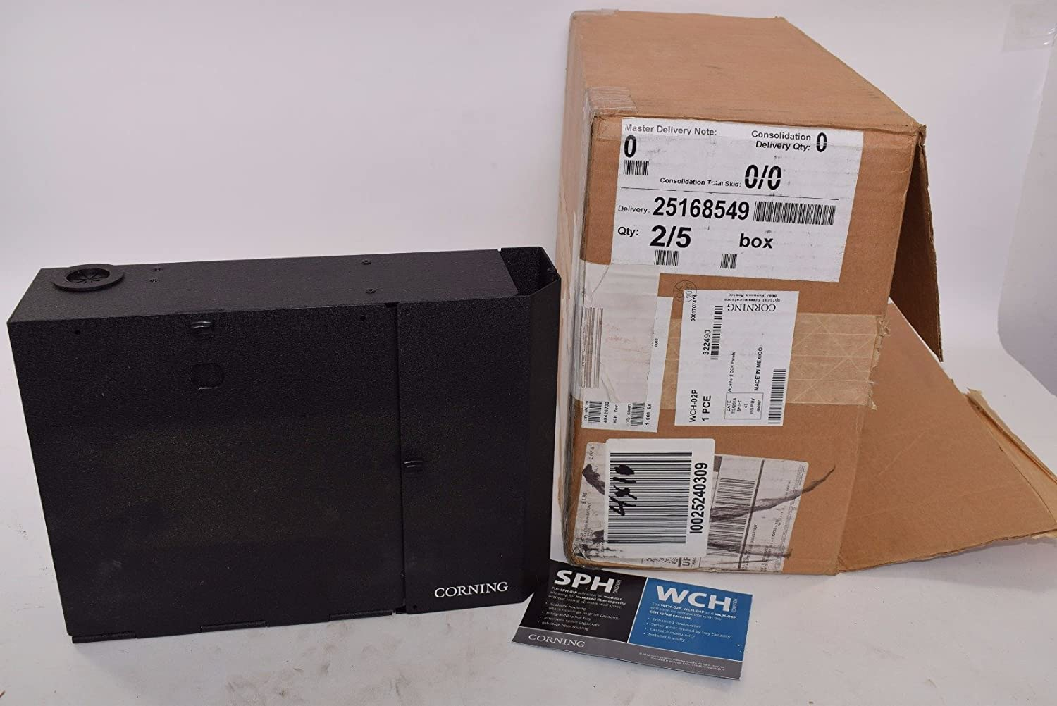 Wch 02p Corning Wch Wall Mount Housing For 2 Cch Panels Fiber Optic Connectors Amazon Com Industrial Scientific