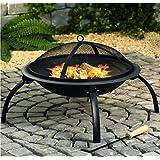 Braciere da esterno, per campeggio, barbecue e giardino, colore nero