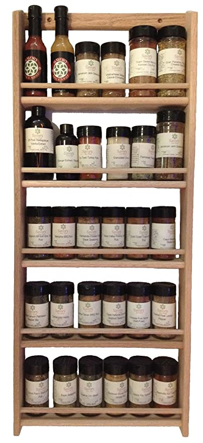 Wood Spice Rack For Wall Mesmerizing Amazon Solid OAK Wood Spice Rack 6060H X 6060 W Wall