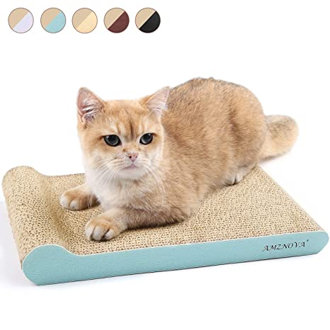 AMZNOVA Incline - Rascador de Gato de cartón, Duradero, Almohadilla para rascar Gatos,