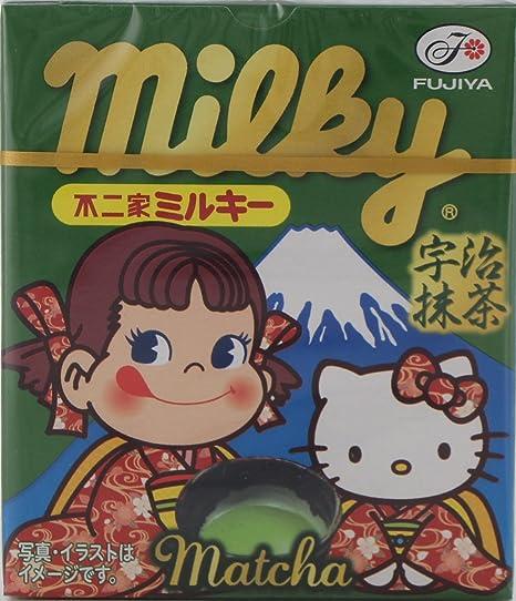 Fujiya Peko y Hello Kitty t? con leche tabletas de 5 cajas X10
