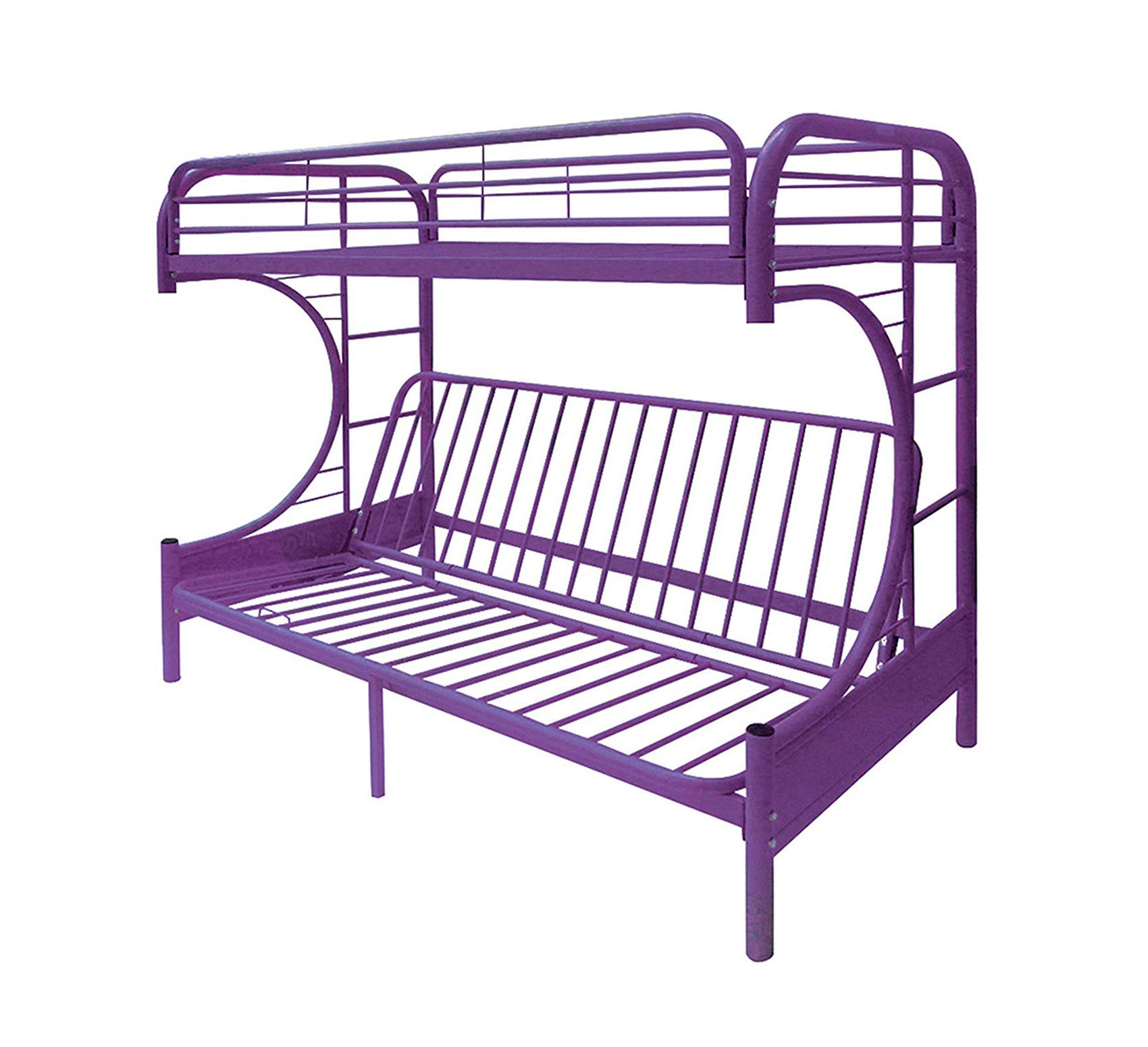 Wood & Style Home Eclipse Futon Bunk Bed, Twin/Full, Purple Office Décor Studio Living Heavy Duty Commercial Bar Café Restaurant by Wood & Style