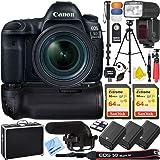 Canon 5D Mark IV EOS Full Frame DSLR Camera Triple Battery & Battery Grip Complete Video Recording Bundle - 2018 Beach Camera 24 Piece Value Bundle