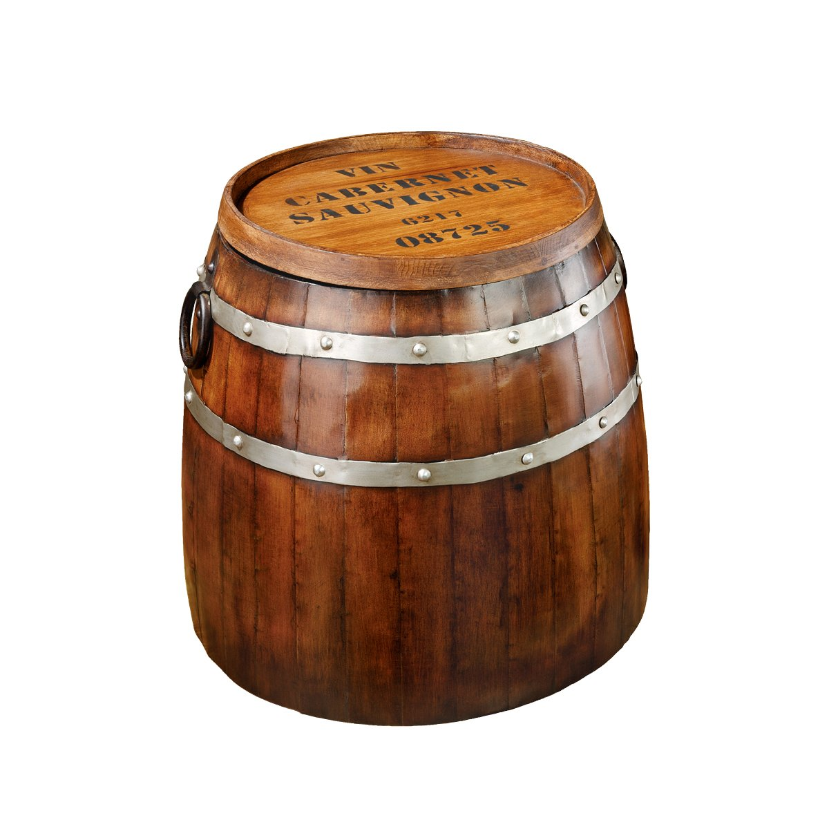 Amazon.com: Design Toscano French Wine Barrel Side Table: Kitchen U0026 Dining