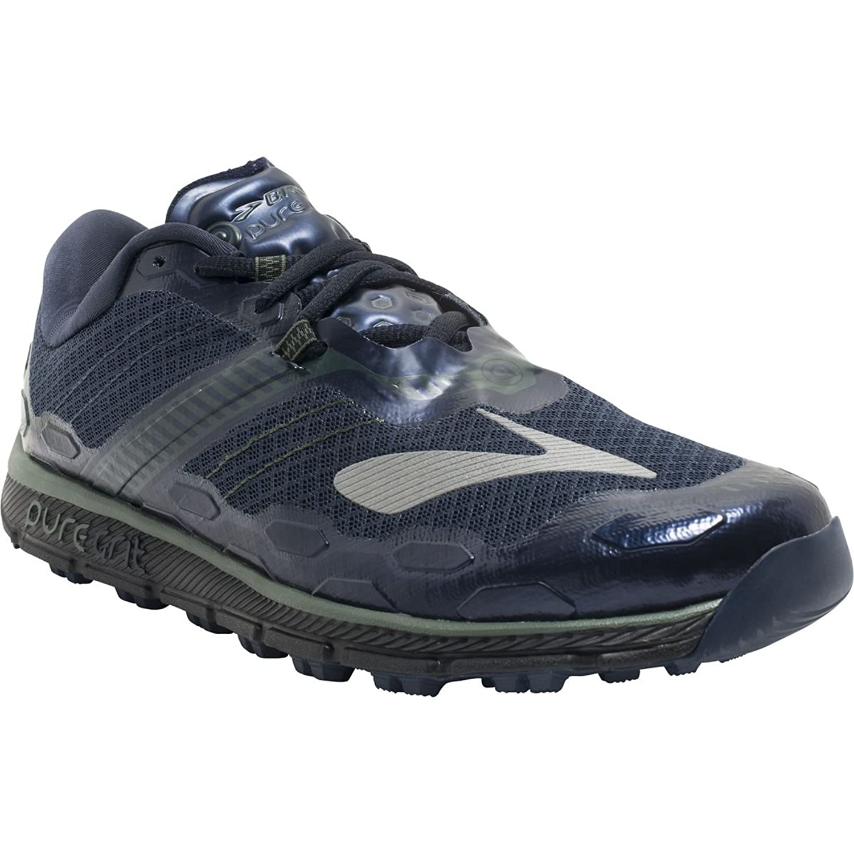 Brooks - Zapatillas para Correr en montaña para Hombre Negro Dress Blues/Duck Green/Black 13 UK