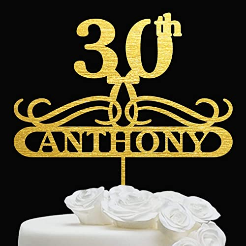 30th Birthday Cake topper Written Thirty Cake Topper Any glitter color Personalise with any age 30th BIRTHDAY DECORATION Cake Topper.
