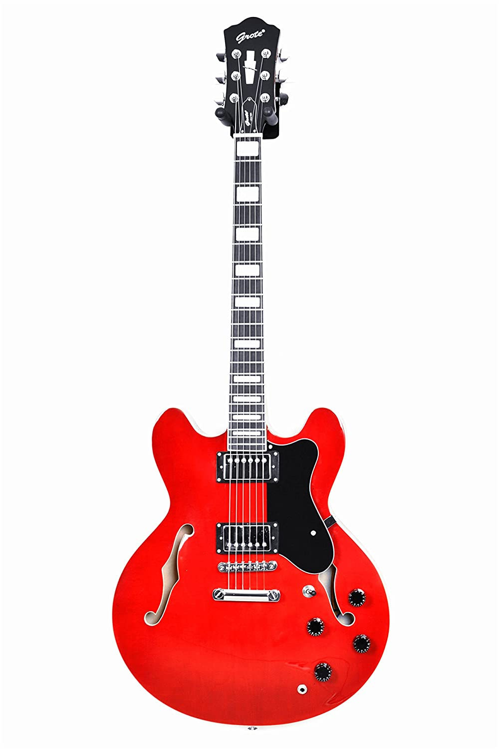 2018 New product !!! GROTE BRAND Electric Guitar Semi Hollow Body RED COLOR MG-404