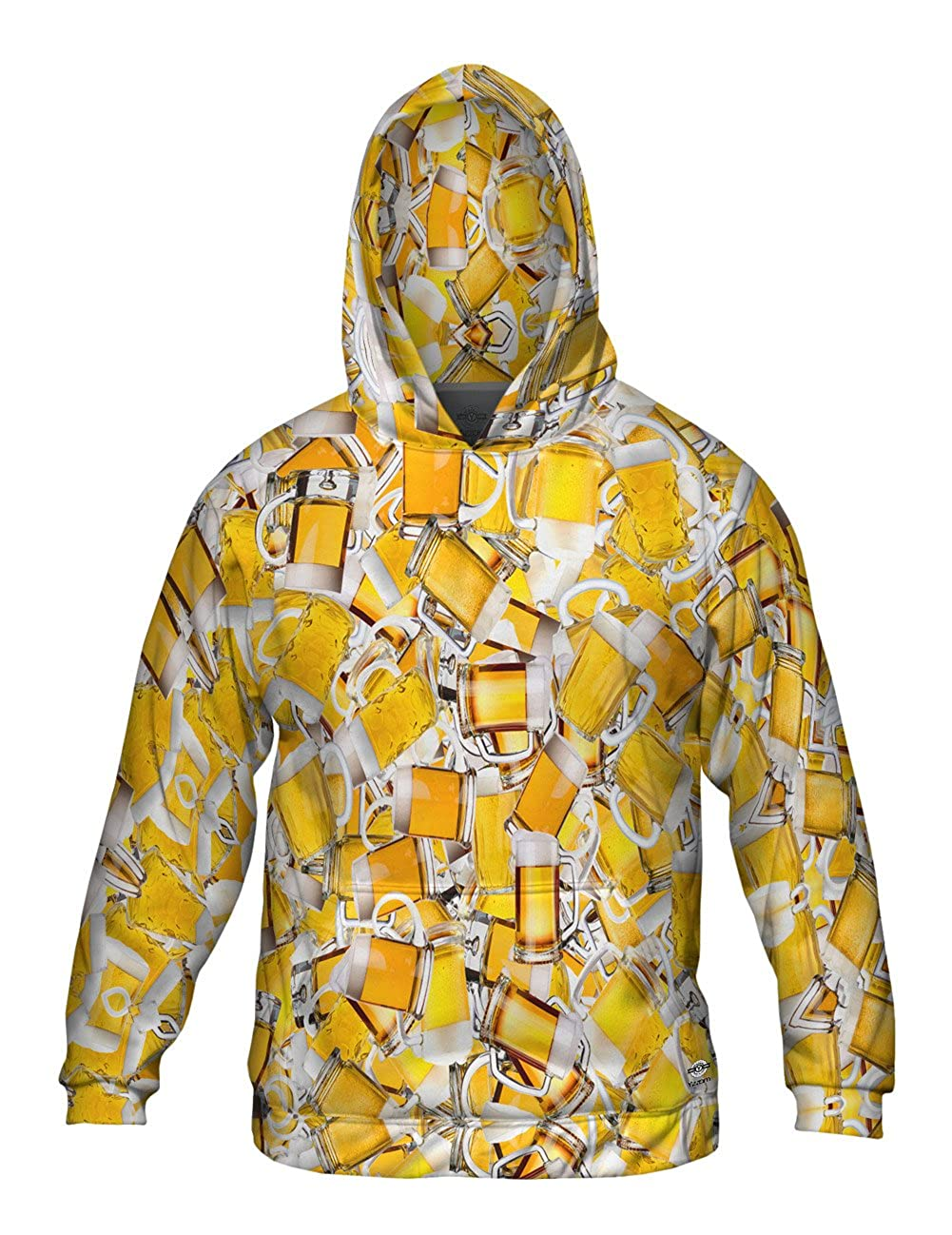 Allover Print Mens Hoodie Sweater Beer Pubs All Night Jumbo Yizzam