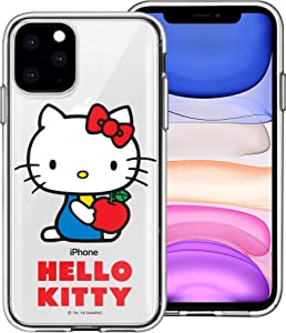 WiLLBee Compatible with iPhone 12 Pro Case/Compatible with iPhone 12 Case (6.1inch) Sanrio Cute Border Clear Jelly Cover - Hello Kitty Apple Sit