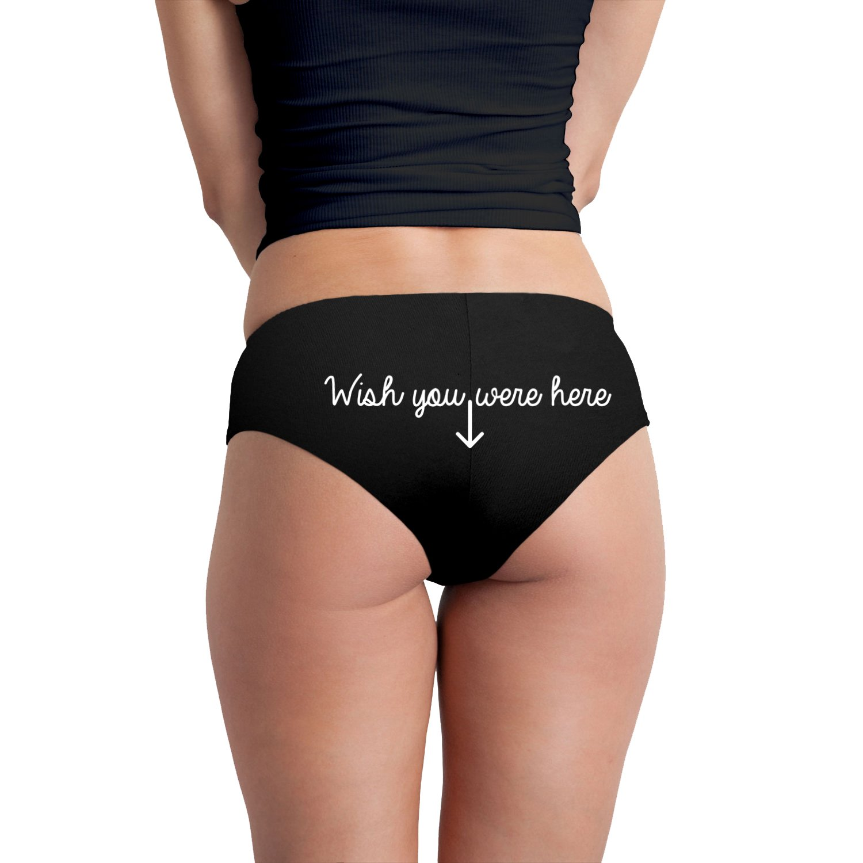 Wish You were Here Arrow Funny Womens Boyshort Underwear Panties