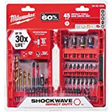 Milwaukee Shockwave Impact Drill and Drive Driver Bit Set (45-Piece) 48-32-4009