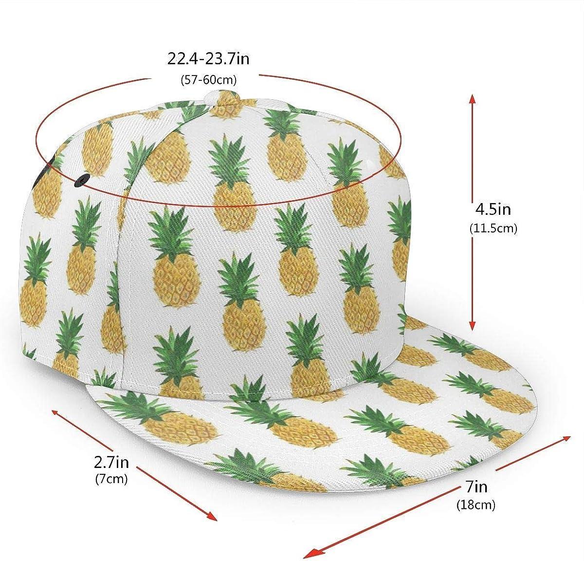 Pineapple Pattern Yellow Lightweight Unisex Baseball Caps Adjustable Breathable Sun Hat for Sport Outdoor