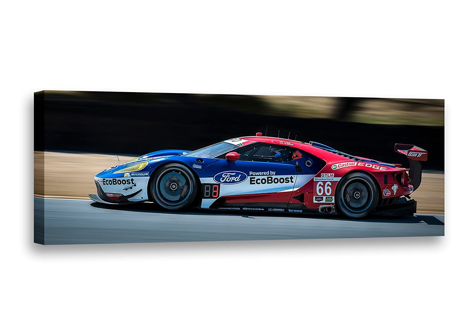 Amazon Com Dennis Schrader Photography Ford Gt Ecoboost Imsa Racecar Car Photo Automotive Wall Art Canvas Print X Posters Prints