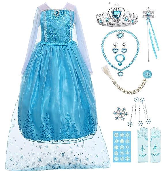Amazon.com: IWIWB Disfraz de princesa con lentejuelas para ...