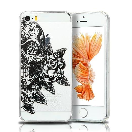 2 opinioni per Cover iPhone 5 Custodia iPhone 5s Silicone Anfire Morbido Flessibile TPU Gel