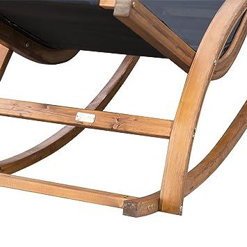 Outsunny Outdoor Garden Patio Pool Rocking Chair Sun Lounger Bed ...