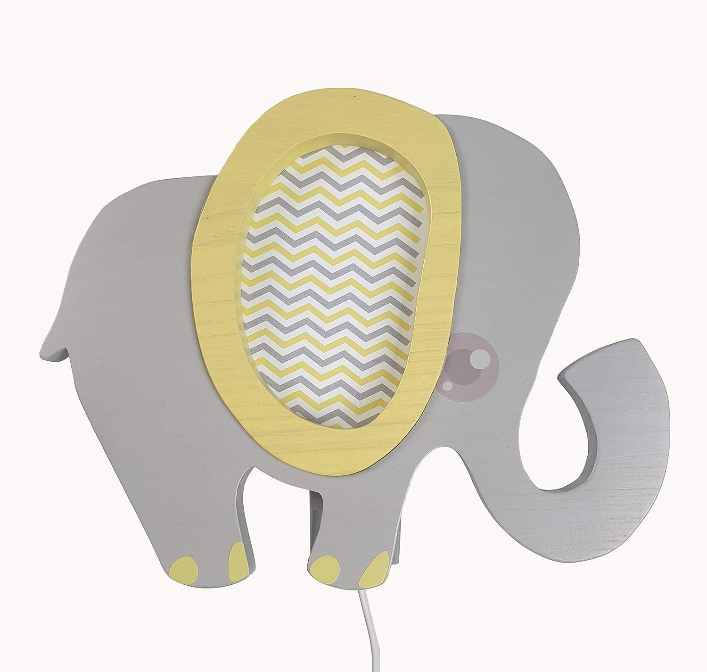 Elefant blau Clevere Kids Kinder Wandlampe Alle Meine Tiere Holz Handarbeit A++