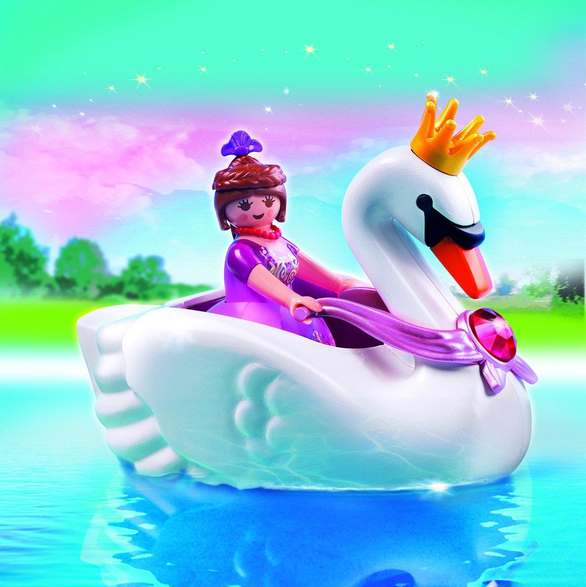 Amazon.com: PLAYMOBIL Princess with Swan Boat Playset: Toys & Games