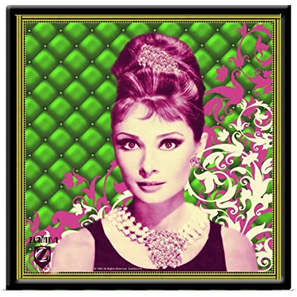 Amazon great big canvas poster print entitled audrey hepburn great big canvas poster print entitled audrey hepburn padded floral green pink 16quotx16quot mightylinksfo