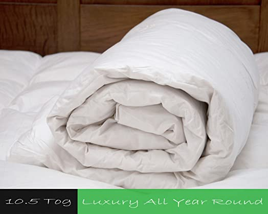Premium 10.5 tog Duck Feather & Down Thick and Cosy Duvet Quilt ... : thick quilt - Adamdwight.com