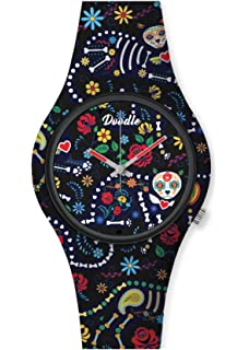 Doodle - Reloj de pulsera unisex Tattoo Mode, Diseño de tortuga ...
