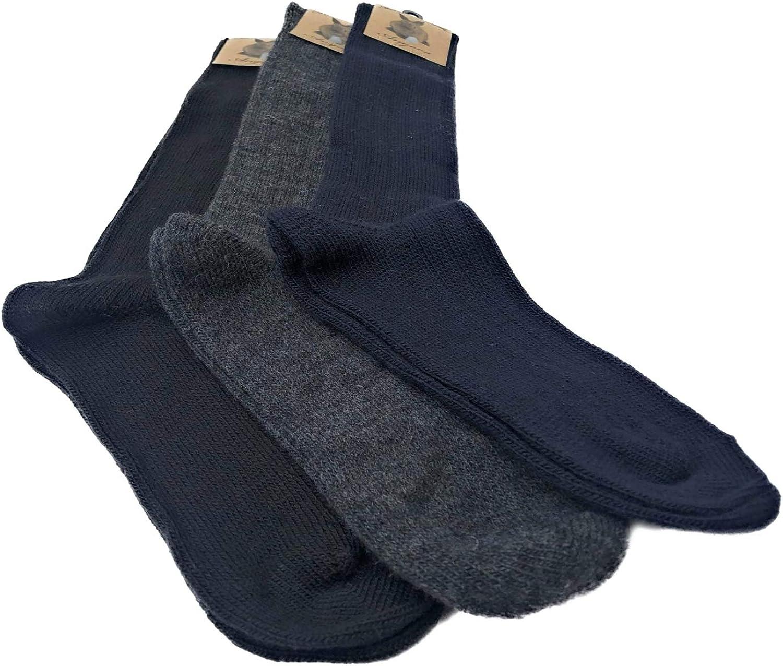 Winter-Skisocken gegen K/älte Dream Socks lange Socken aus Thermo-Fleece verschiedene Sortimente 3er-Pack oder 6er-Pack dicke Socken mit hoher W/ärmeisolierung