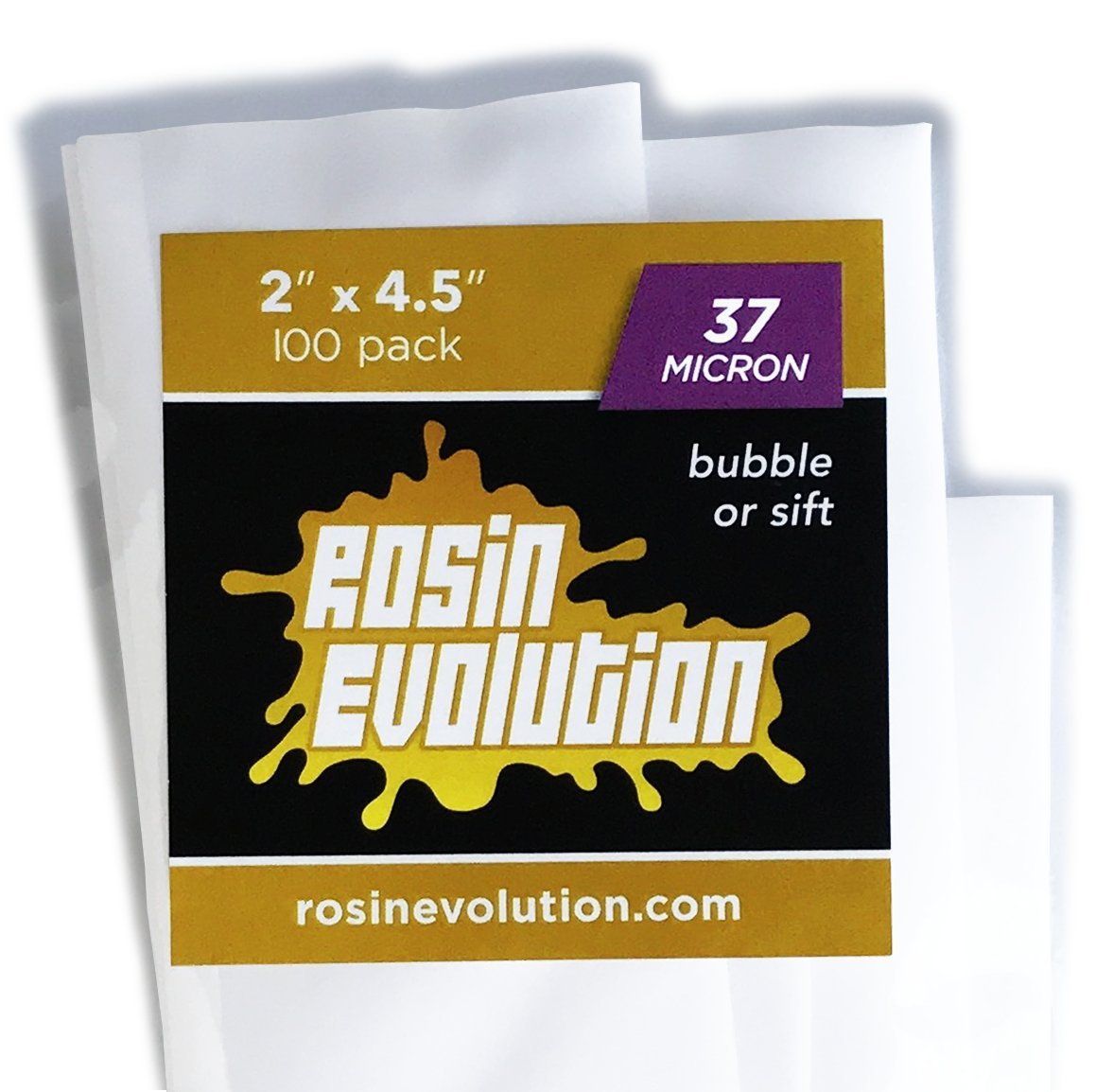 Rosin Evolution Press Bags - 37 micron screens (2'' x 4.5'') - 100 pack by Rosin Evolution
