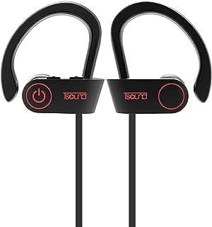 TSOUND Best Headphones Wireless Sports Earphone IPX7 Waterproof HD Sweatproof in Ear Earbuds for Gym Running Workout 8 Hour Battery Noise Isolating Headsets