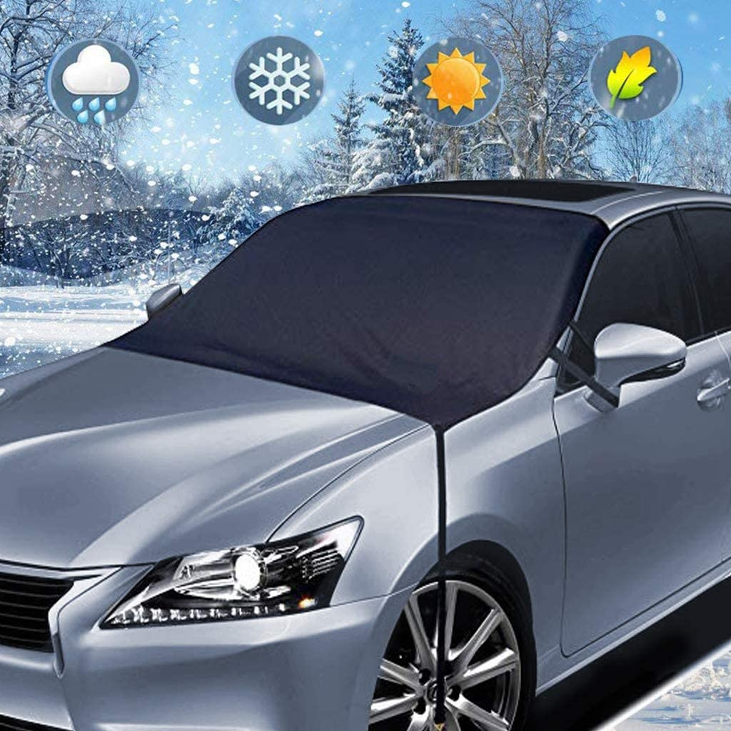 Frost Guard Windshield Covers Shade Waterproof Van or Automobile Keeps Ice /& Snow Off Exterior Auto Snow Windshield Cover with Edges SUV Huge Size Fits Any Car Windshield Snow Cover Truck