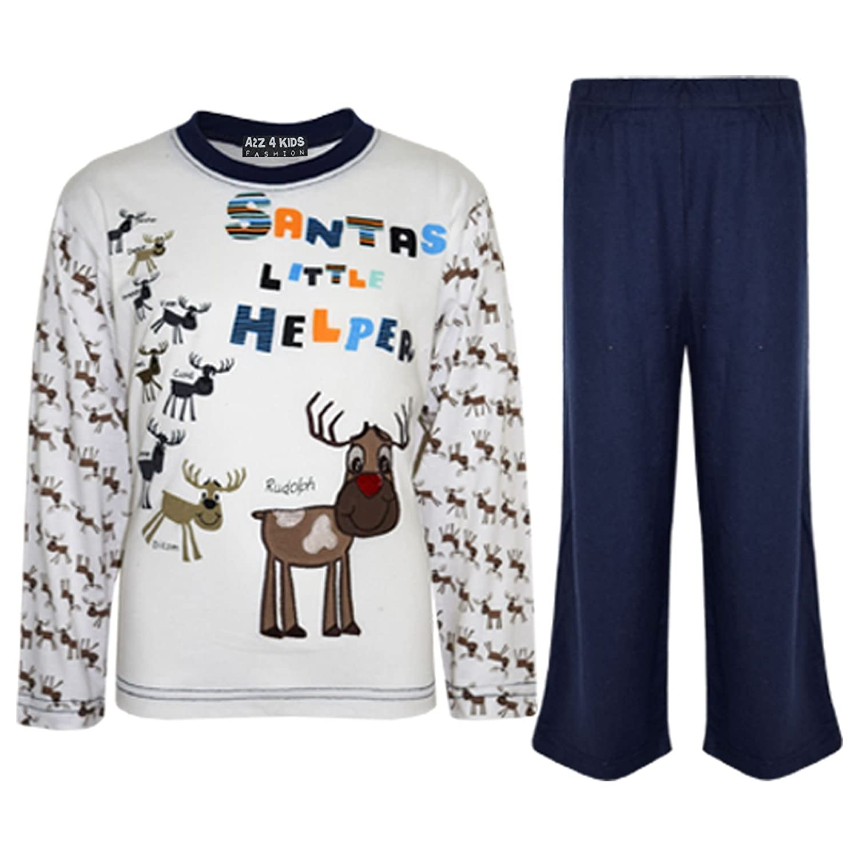 98cee31b84f7 A2Z 4 Kids® Kids Girls Boys Santas Little Helper Christmas Pyjamas ...