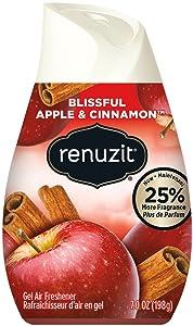 Renuzit Blissful Apple & Cinnamon Adjustable Gel Air Freshener, 7oz Cone (Pack of 12)