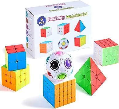 Paochocky Cubo Mágico Puzzle Pack, Cubo de la Velocidad Paquete ...