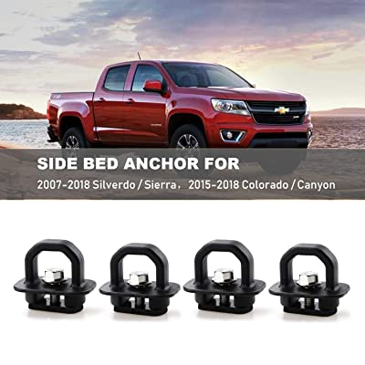 4pcs Tie Down Anchors Truck Bed Side Wall Anchor for 07-18 Chevy Silverdo GMC Sierra 15-18 Chevy Colorado GMC Canyon Pickup DZ97903: Automotive