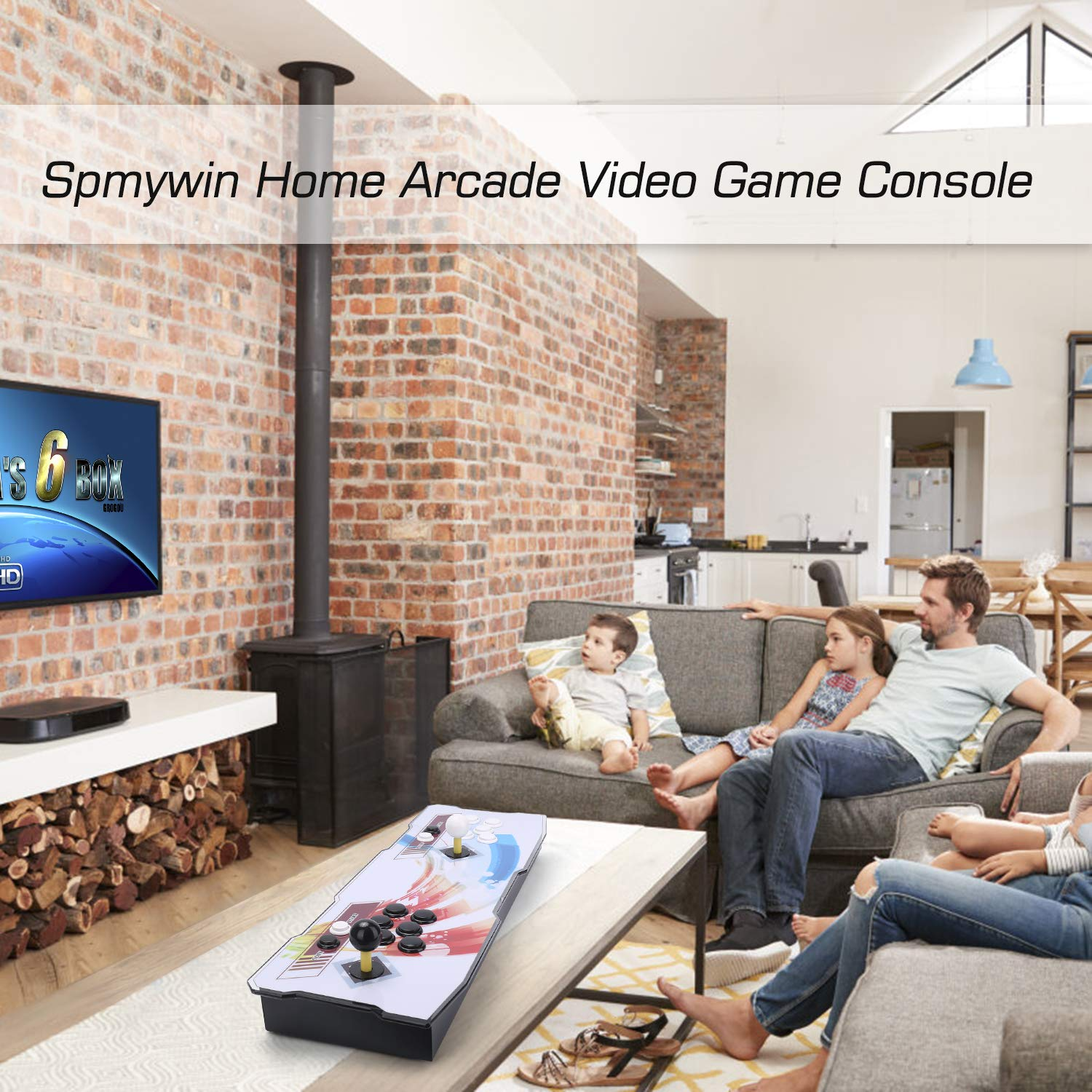 Spmywin 3D Pandoras Key 7 Arcade Video Game Console 1080P Full HD Support to Expand 2D & 3D Games Come with 32G U Drive by Spmywin (Image #2)