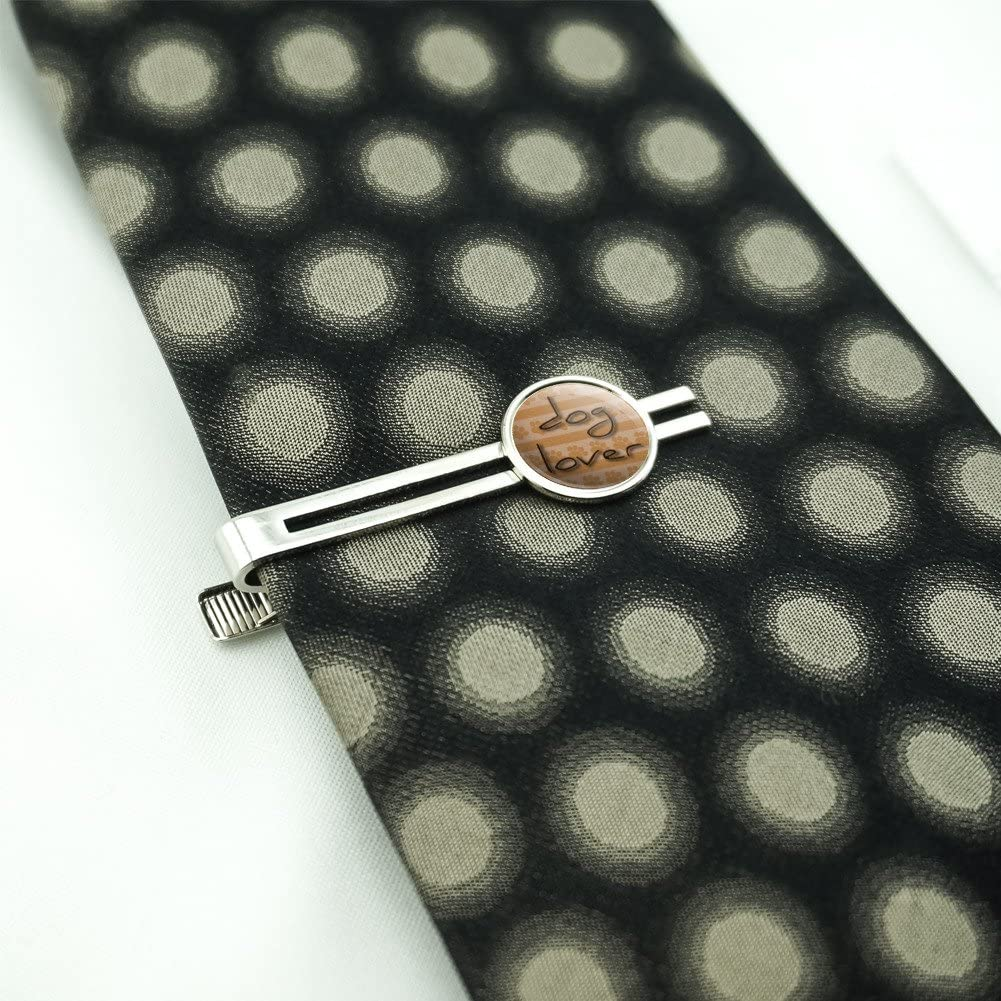 Dog Lover Paws for Affection Mens Tie Clip Tack Bar