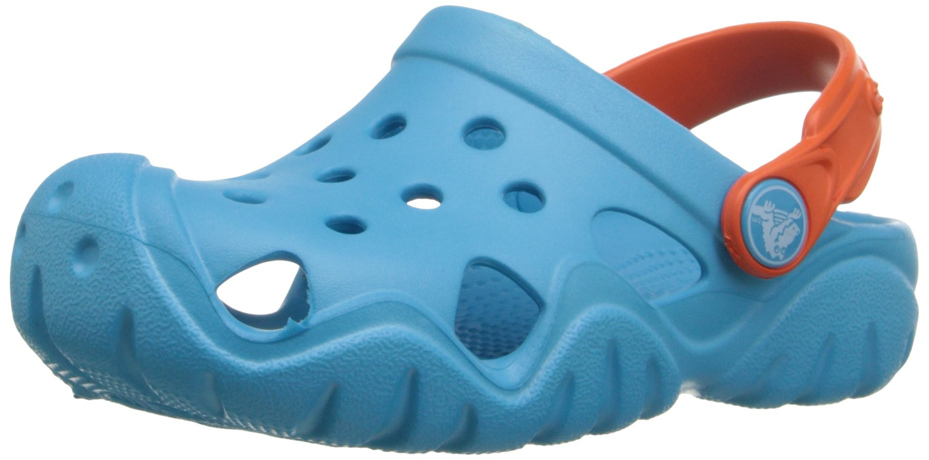 Crocs Kids' Swiftwater Clog K, Electric Blue/Tangerine 6 M US Toddler