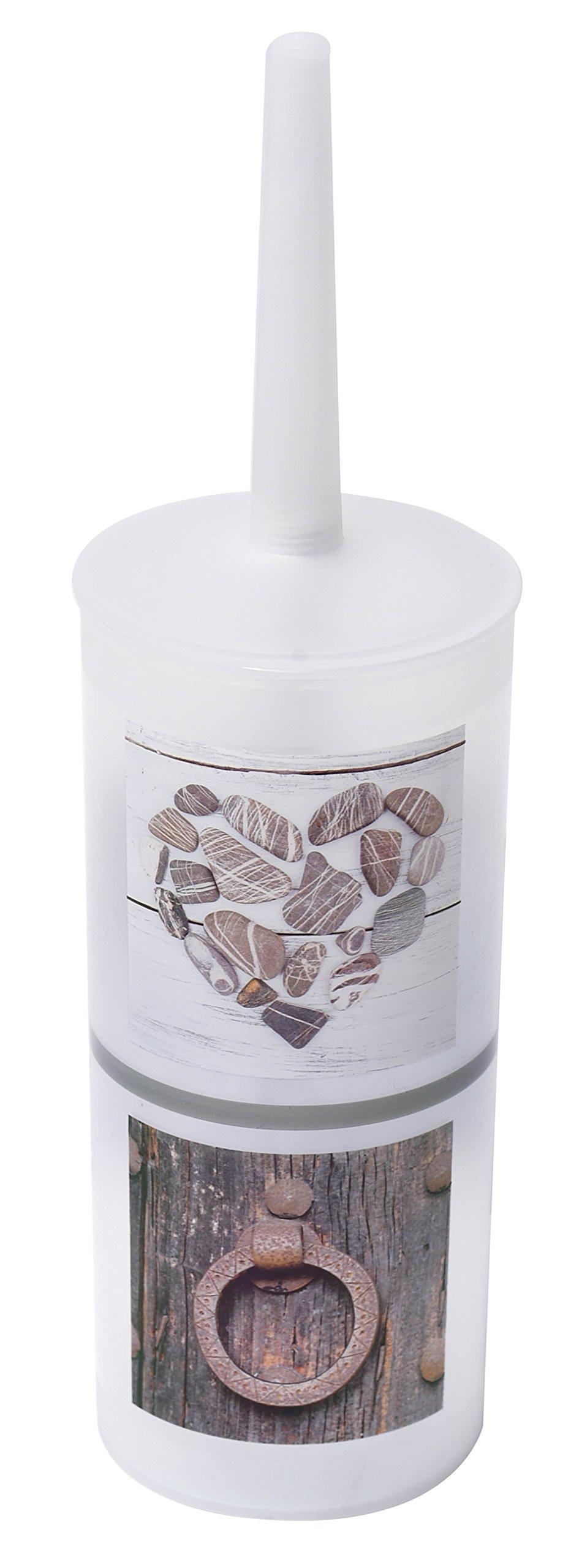 EVIDECO Design Nature Toilet Bowl Brush Holder, Brown/Gray