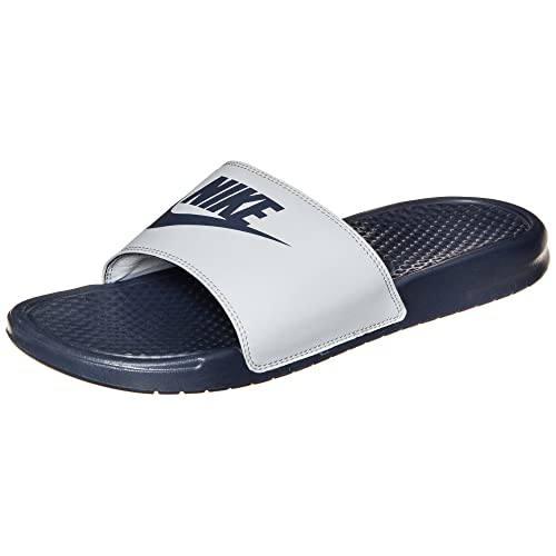 newest 3e431 0f440 Nike Benassi JDI Mismatch - Chanclas de hombre, Azul Marino  Gris, 36 12  Amazon.es Zapatos y complementos