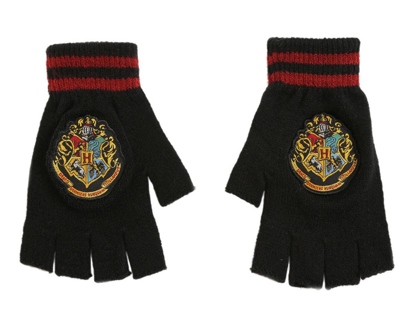 Harry Potter Hogwarts Crest Fingerless Gloves