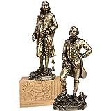 Design Toscano Founding Fathers Franklin and Washington Statue, Bronze, Set of 2