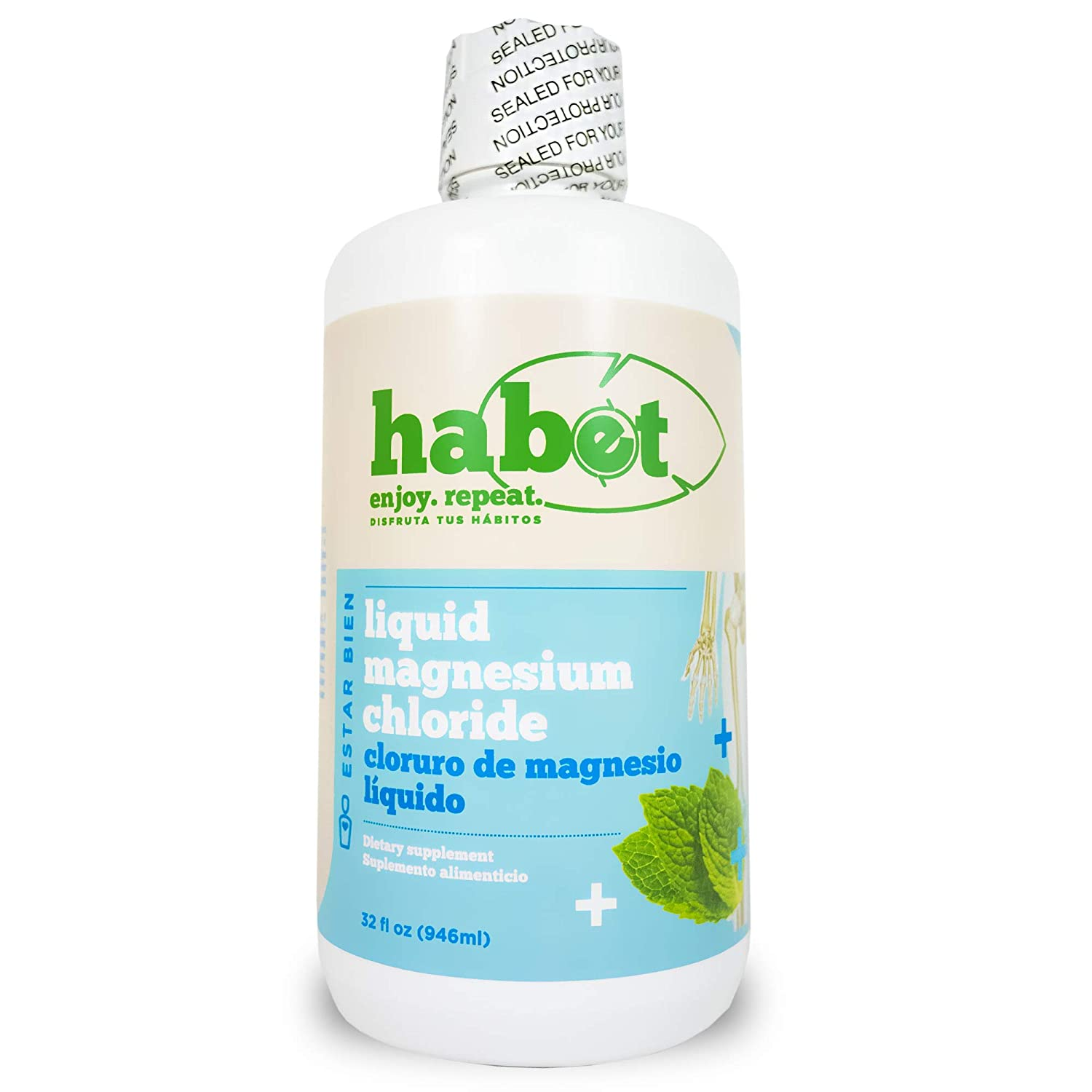 Amazon.com: Habet - Liquid Magnesium Chloride Mineral Hypoallergenic Supplement - High Absorption Hexahydrate Concentrate, 299 mg Elemental Magnesium, ...
