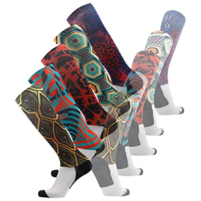3street Unisex Athletic Fashion Knee High Running Compression Socks 1-5 Pairs