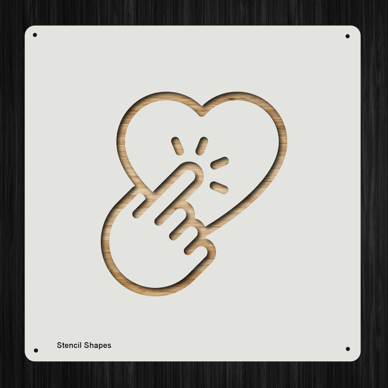Like Pick Hold Liked Nope プラスチック マイラー ステンシル 塗装 壁 工芸用 アイテム 923021   B07DD2TX6F