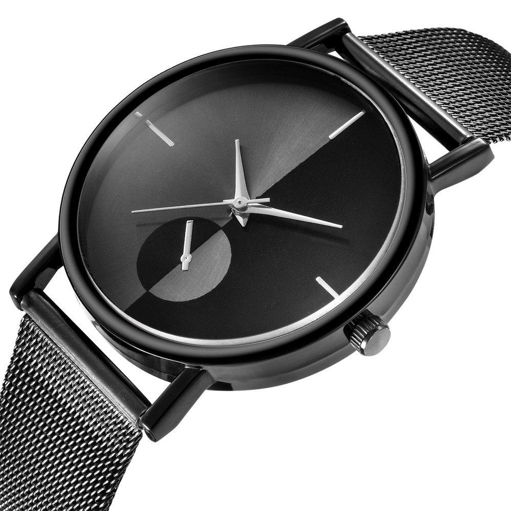 Amazon.com: Yaida💞💞Womens Fashion Classic Gold Quartz Stainless Steel Wrist Watch (Black): Clothing
