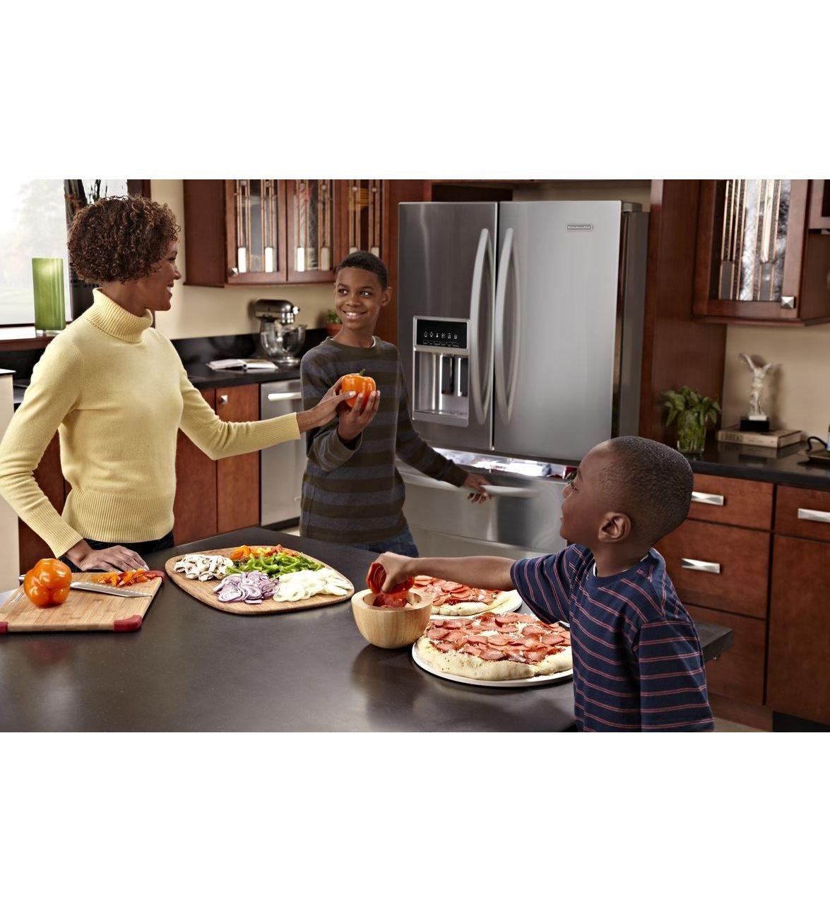 Amazon.com: KitchenAid Architect Series II KFXS25RYMS 36 25.0 Cu. Ft.  French Door Refrigerator: Appliances