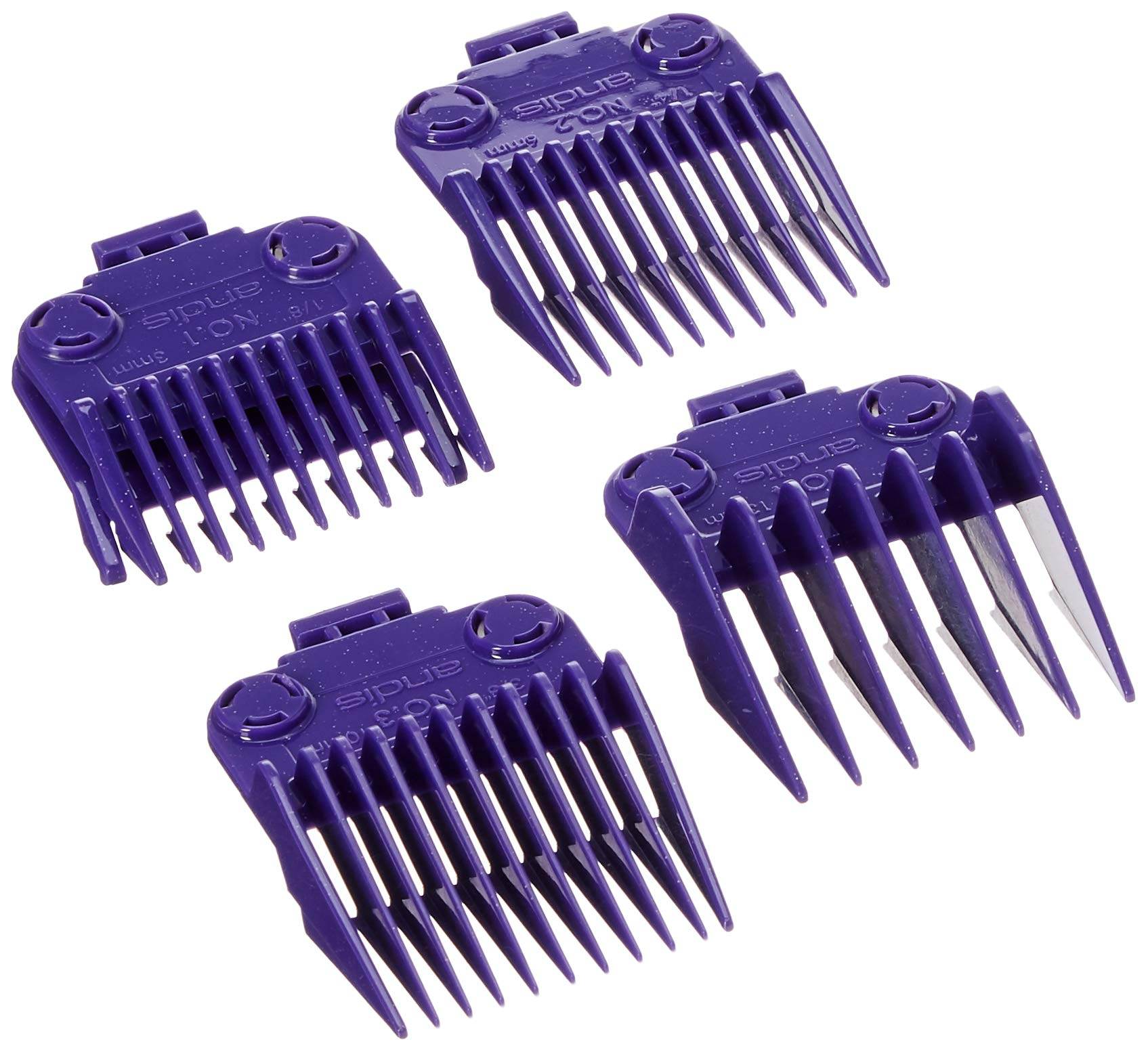Andis 01410 Master Dual Magnet Small 5-Comb Set designed for MBA, MC-2, ML, PM-1 and PM-4, Purple by Andis