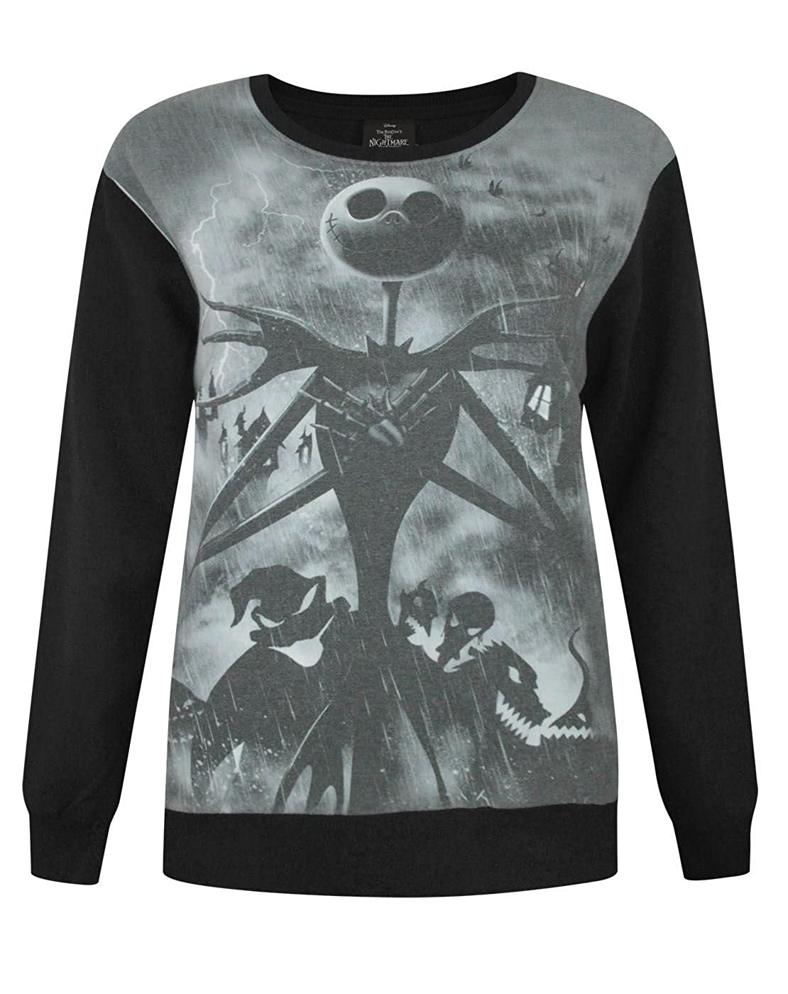 Disney Official Nightmare Before Christmas Sublimation Women's Sweater