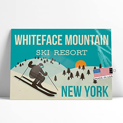 Amazon com: NEONBLOND Large Poster Whiteface Mountain Ski