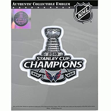 separation shoes 51bff f7d95 National Emblem 2018 NHL Stanley Cup Final Champions Washington Capitals  Jersey Patch